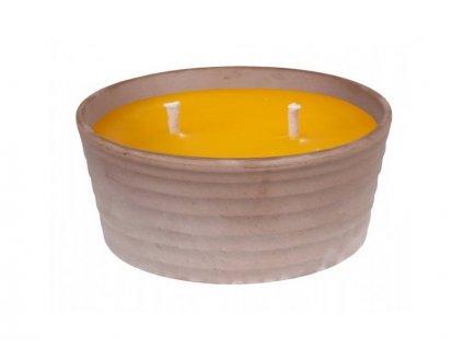 Svíčka CITRONELLA SIRIUS 3knoty plus žardinka 420g d
