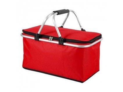 HUKA K13588IS Piknikový chladící koš taška 45x27x24cm, červená