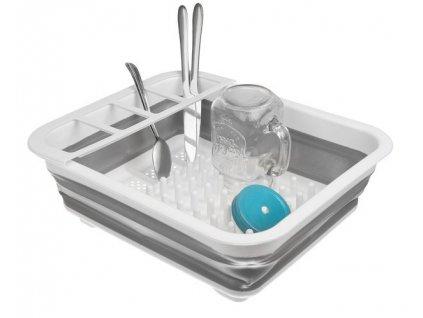 HUKA 15096IS Skládací odkápávač nádobí, silikon