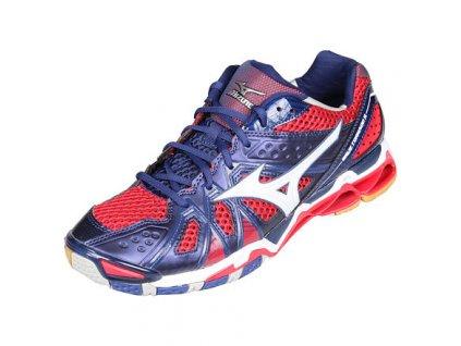 Wave Tornado 9 halová obuv modrá-červená velikost (obuv) UK 11,5