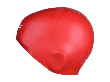 Summer koupací silikonová čepice červená varianta 15847
