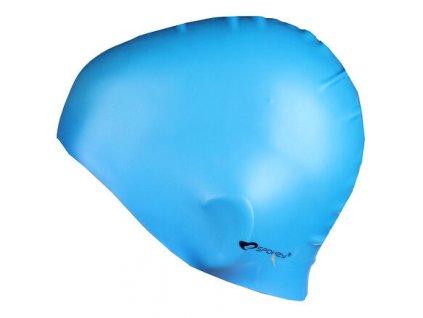 Summer koupací silikonová čepice modrá sv. varianta 15848