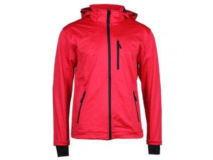 SBP-4 pánská softshellová bunda červená velikost oblečení M