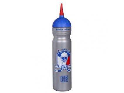 Czech Hockey sportovní láhev s hubicí stříbrná objem 1000 ml