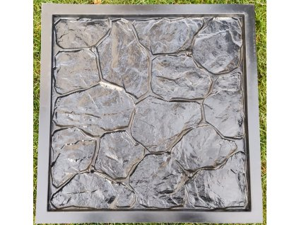 HUKA HK-128 Forma na beton fasádní kámen, 50x50x2 cm
