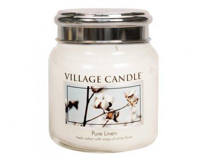 Village Candle Vonná svíčka ve skle, Čisté prádlo - Pure Linen, 16oz