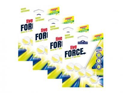 GF Five Force 50 g WC blistr závěs Citron 3+1 ks
