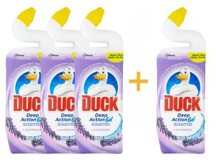 Duck čistič wc deep action gel levandule 750ML 3+1 ks