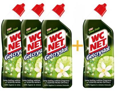 WC NET gelový čistič citrus fresh 750ML 3+1ks