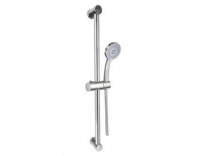 Mereo CB900B Sprchová souprava, pětipolohová sprcha, spirálová černá hadice, stavitelný držák, plast/chrom