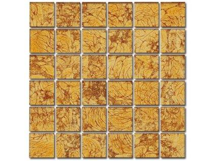 Maxwhite ASB100 mozaika skleněná oranžová 29,7x29,7cm sklo