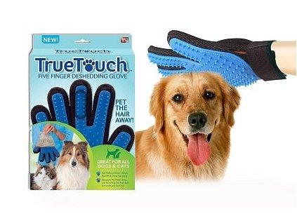 True Touch rukavice na srst vyčesávací