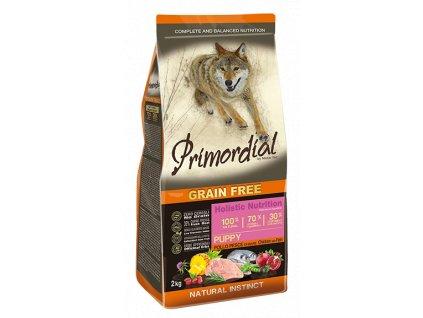 PRIMORDIAL Dog Puppy Chicken & Seafish granule 12kg
