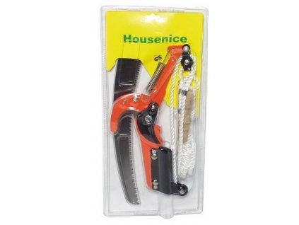 nůžky zahradnické na tyč, housenice s pilkou v blistru