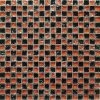 Maxwhite JSM-BL001 Mozaika skleněná černá červená 29,7x29,7cm