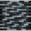 Maxwhite JSM-BL036 Mozaika sklo-kamenná, černá, modrá, bílá 29,7 x 29,7 cm