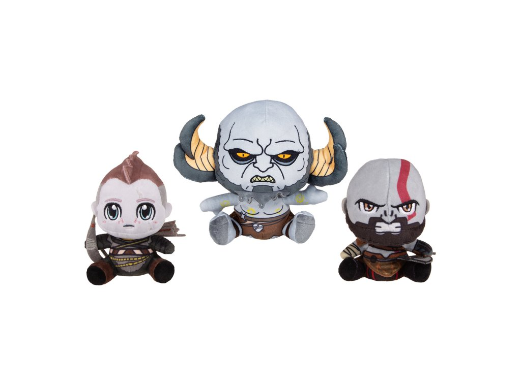 God of War plyšáci Kratos, Atreus, Troll 1