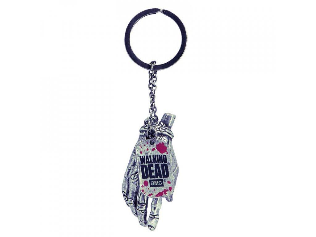 the walking dead keychain 3d zombie hand x2