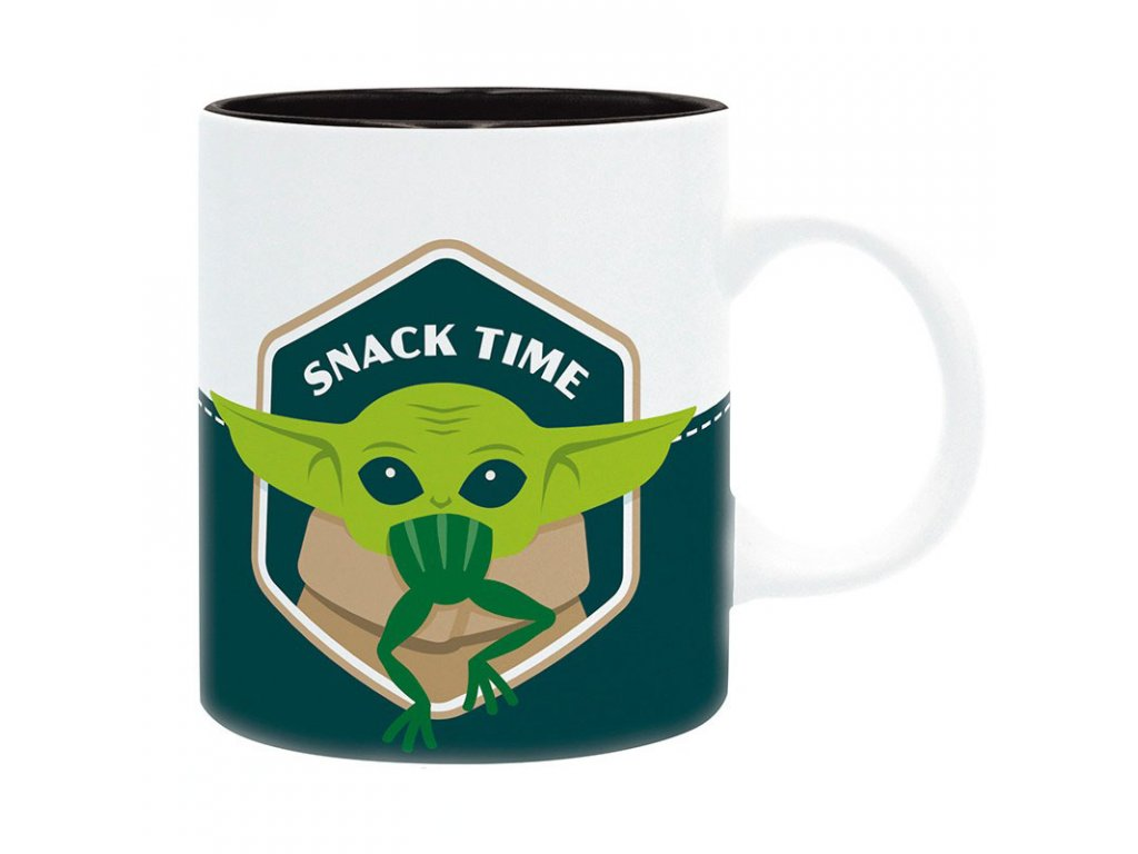 the mandalorian mug 320 ml baby yoda eating frog subli x2