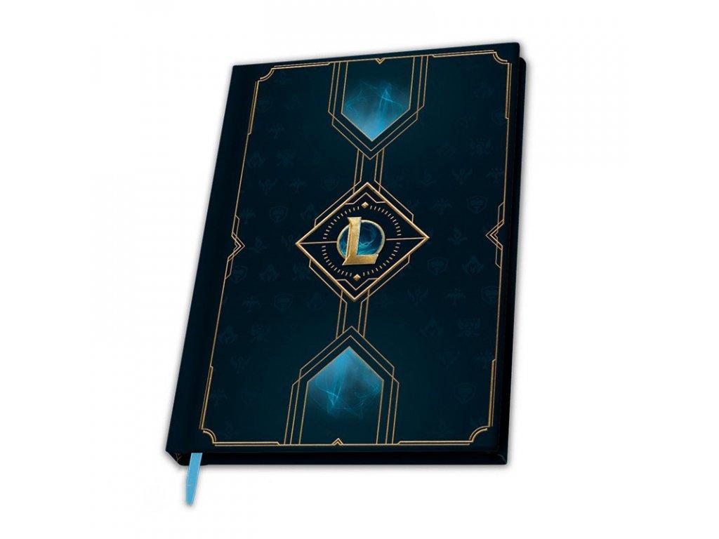 league of legends a5 notebook hexteck logo x4