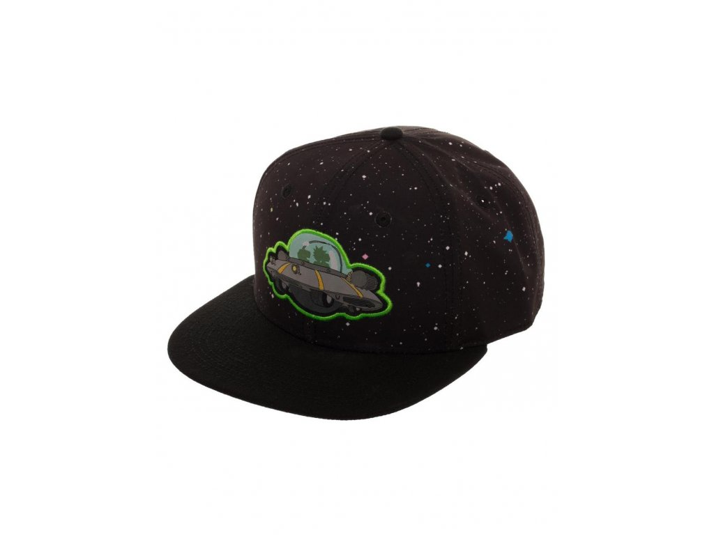 Rick & Morty kšiltovka Spaceship Black