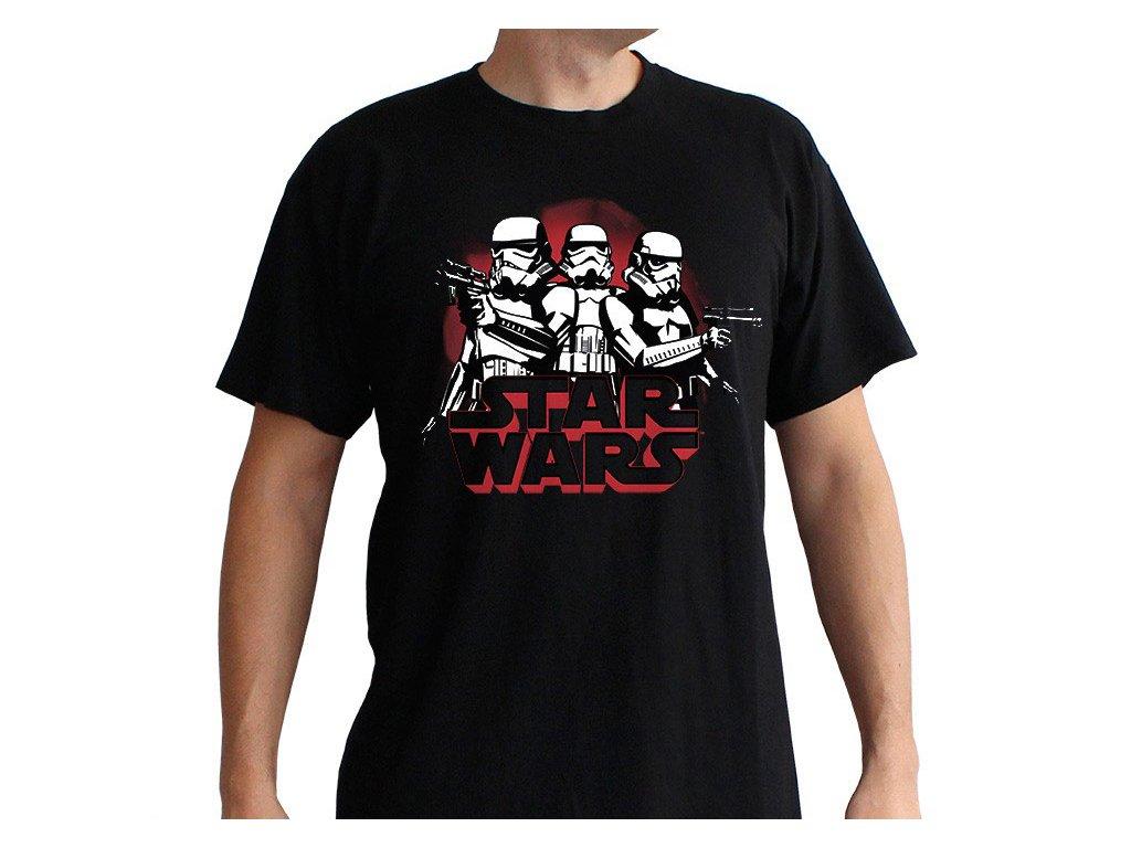 star wars tshirt stormtroopers man ss black basic