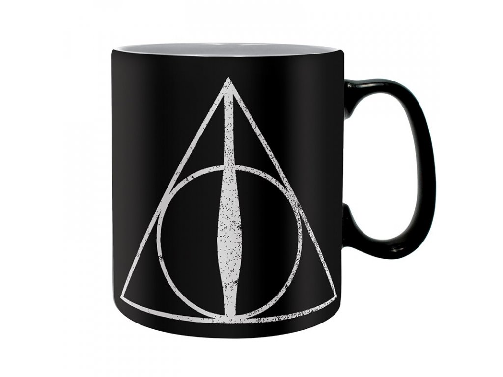 harry potter mug 460 ml deathly hallows box x2
