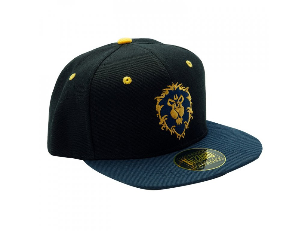 world of warcraft snapback cap blue alliance