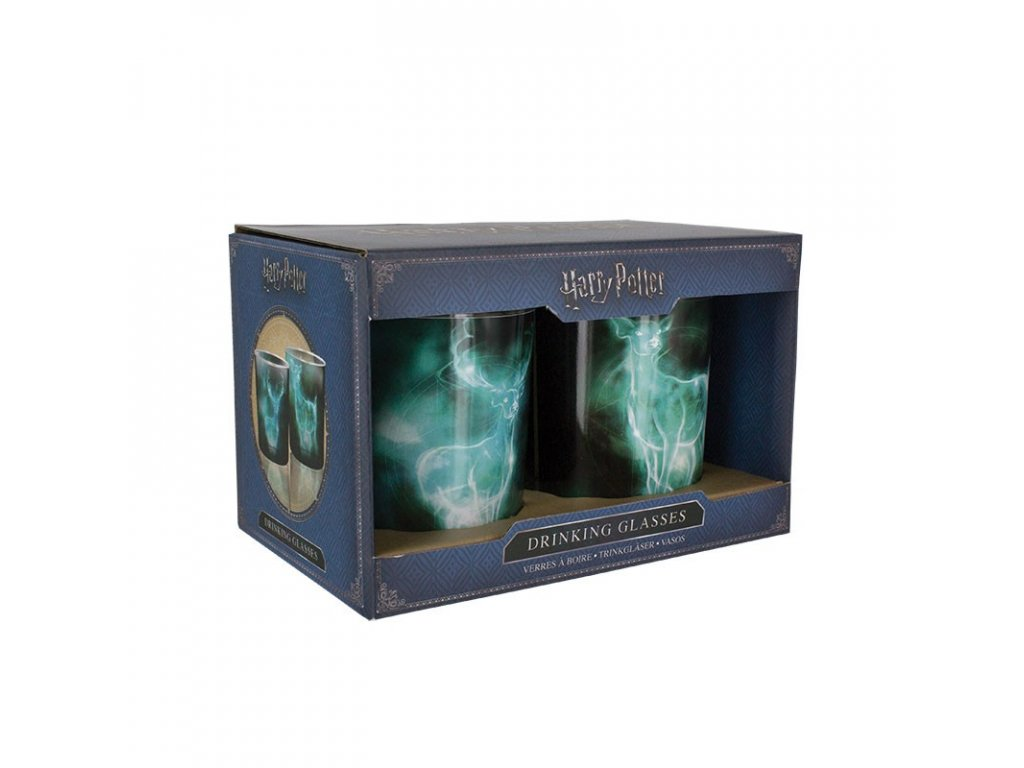 harry potter patronus drinking glasses 2 pack