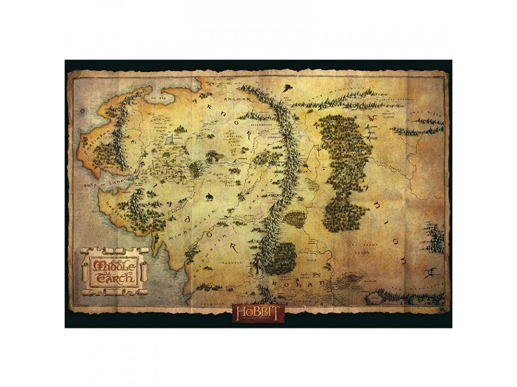 the hobbit poster middle earth map 915x61