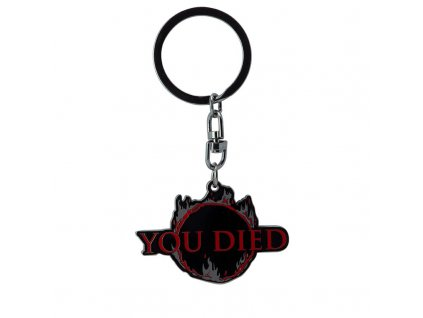dark souls keychain you died x4