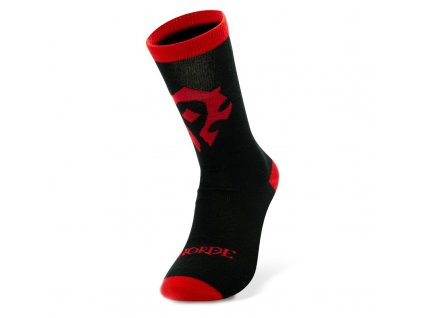 world of warcraft socks black red horde