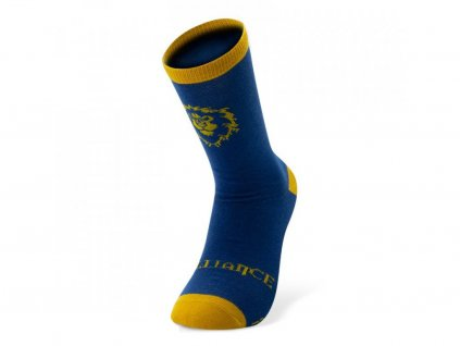 world of warcraft socks blue yellow alliance