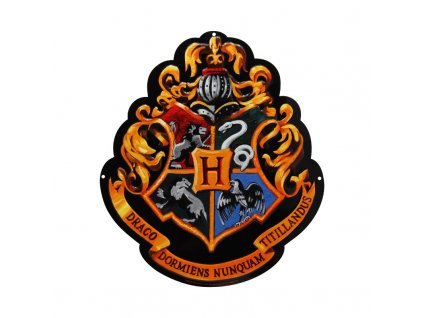 harry potter metal plate hogwarts 28x32 with hook