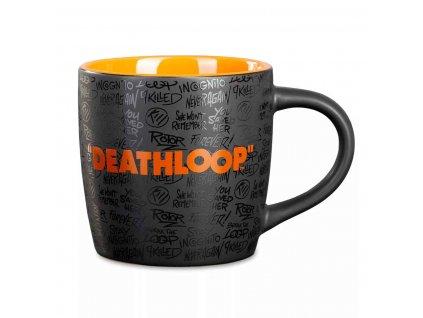 deathloop two colored mug logo front