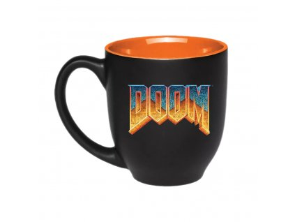 Doom two color mug classic logo left