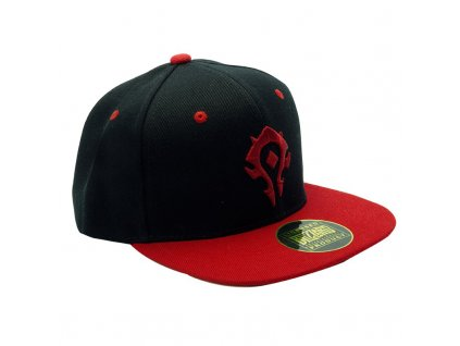 world of warcraft snapback cap black red horde