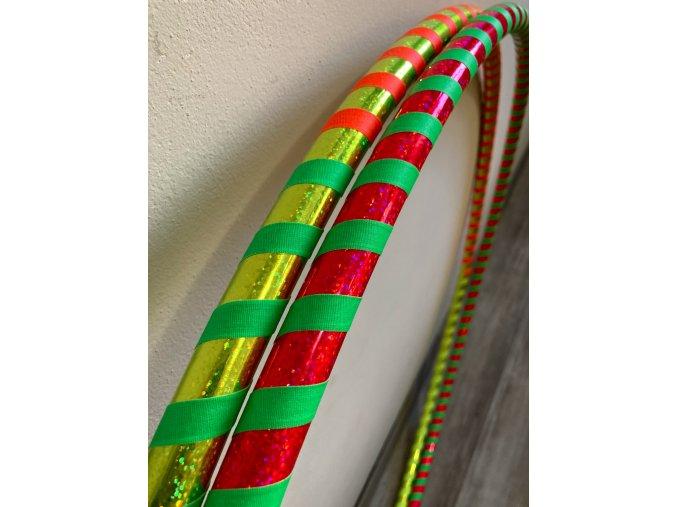 Cestovní obruč hula hoop pro začátečníky neon