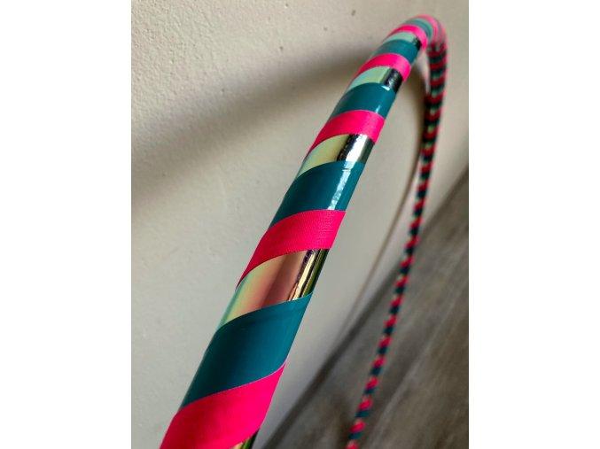 Obruč hula hoop pro začátečníky Iridium - tyrkysová