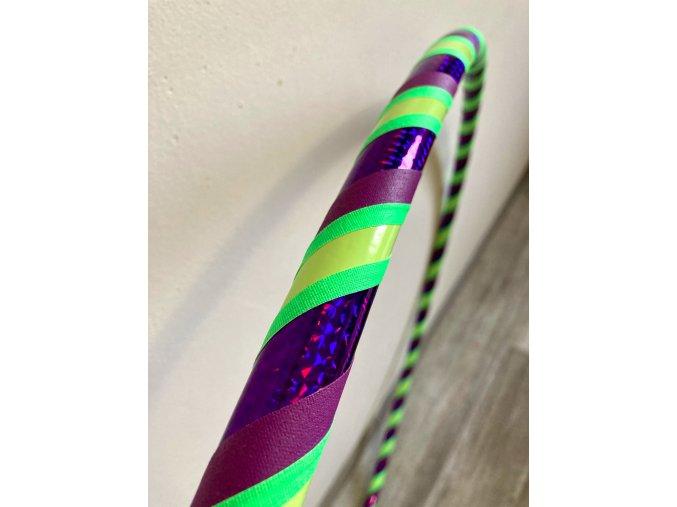 Obruč hula hoop pro začátečníky - Violet poison