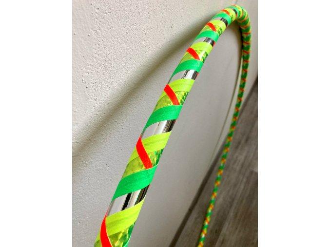 Cestovní obruč hula hoop pro začátečníky CikCak Limeta 100cm