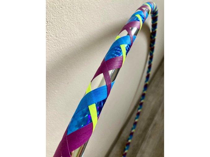 Cestovní obruč hula hoop pro začátečníky CikCak Modrá fialka 100cm