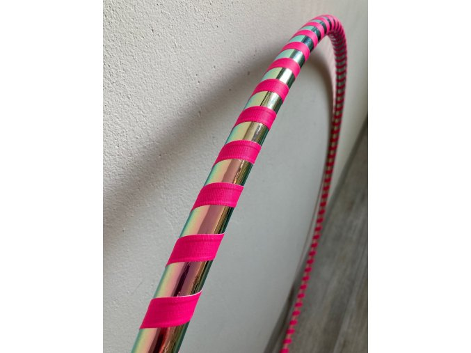 Cestovní obruč hula hoop (rozložitelná) Iridium růžová