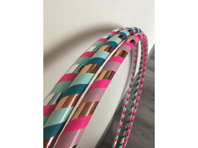 Obruč hula hoop pro začátečníky v pastelových barvách