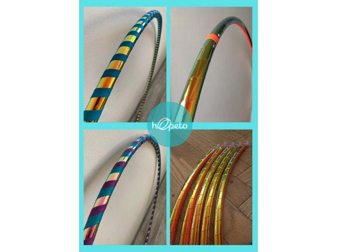Obruč hula hoop hula hop cestovní rozložitelná