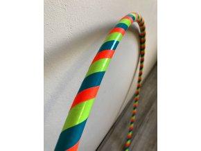 Obruč hula hoop pro začátečníky tyrkysová neonová