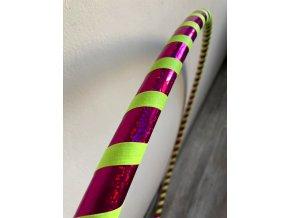 Cestovní obruč hula hoop pro začátečníky růžová