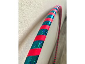 Cestovní obruč hula hoop pro začátečníky tyrkys - růžová