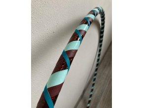 Cestovní obruč hula hoop pro začátečníky CikCak hnědá 95 cm
