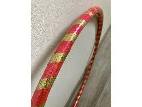 Obruč hula hoop pro děti zlatá růžová